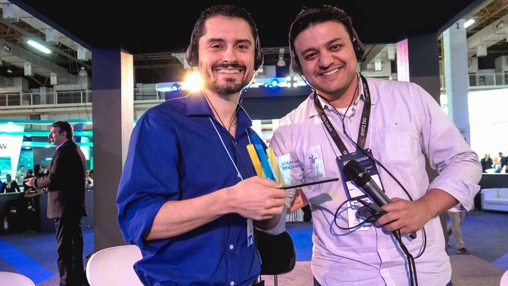 André Ramos da Mindfy e Leopoldo Lima do Hospital Israelita Albert Einstein